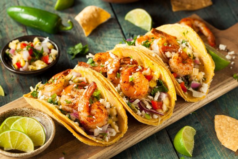 fish tacos on a plate
