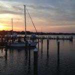 Roanoke Island NC during sunset