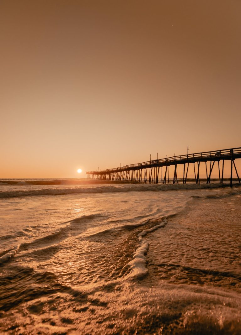 Outer Banks pier at sunrise