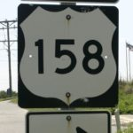 Highway 158 to Outer Banks sign