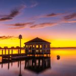 Manteo, NC at sunset
