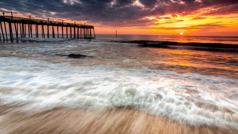 Outer Banks at sunset